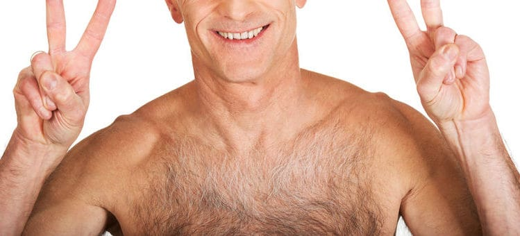 this is exactly what gray chest hair looks like