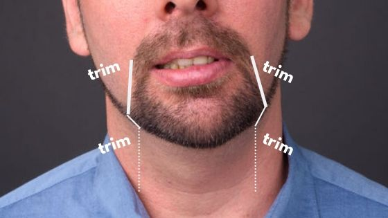 the outline of your goatee