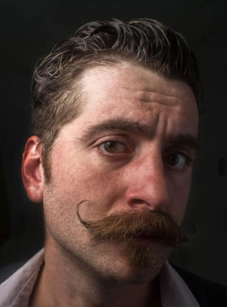 chin puff and handlebar mustache example
