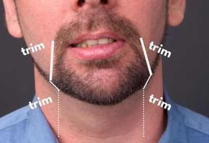Trimming outline for goatee