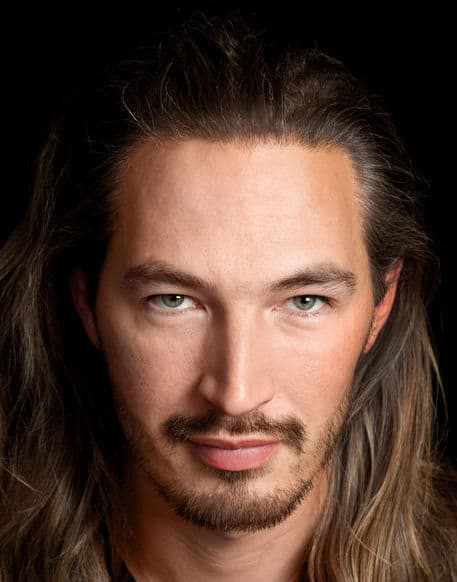 long haired man with goatee