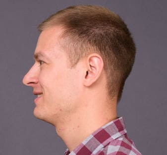 Example of a number 4 buzz cut