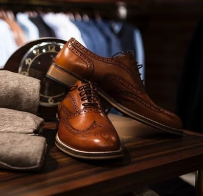 example of brogue shoes