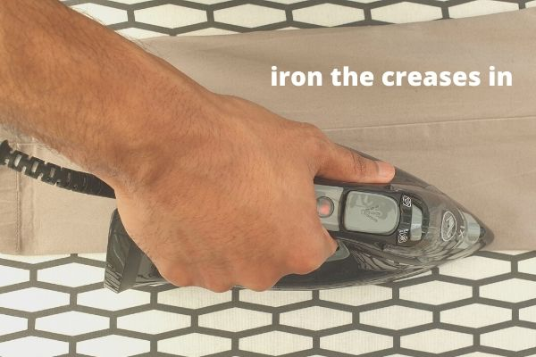 how to iron the creases in