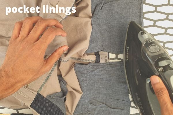 how to iron pocket linings