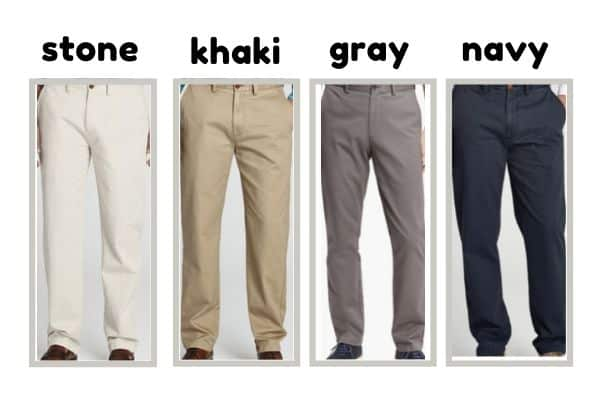 chino in monochromatic colors