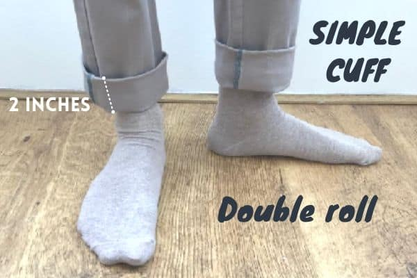 double roll simple cuff