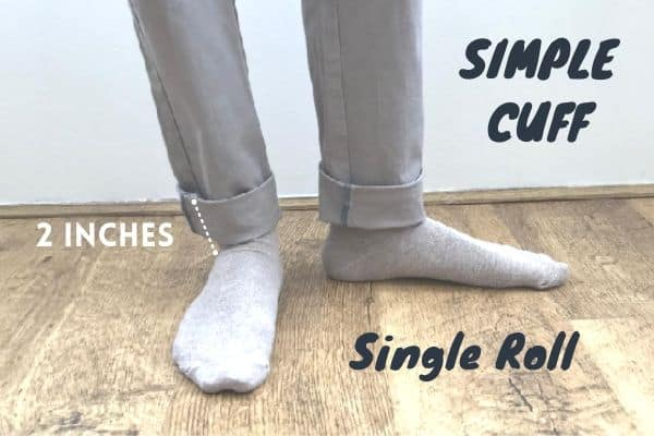 Single roll simple cuff