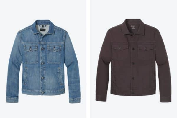 Comparison between formal and casual denim jacket from Bonobos