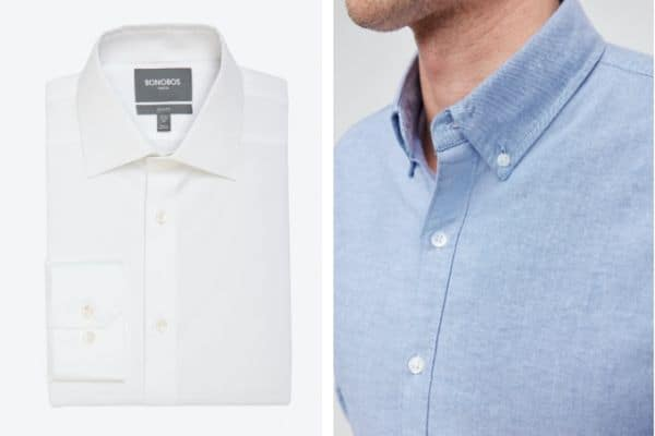Bonobos dress shirt vs OCBD shirt