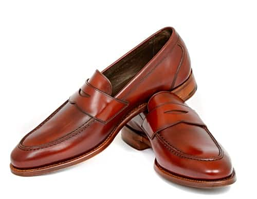 leather peanny loafers