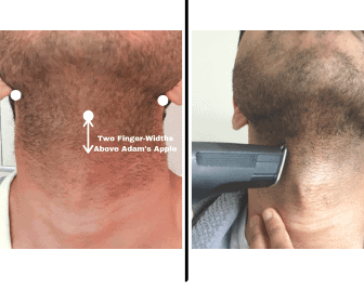 how to trim neckline, before and after
