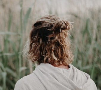 blonde messy man bun