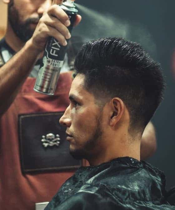 Example of a high volume pompadour with undercut
