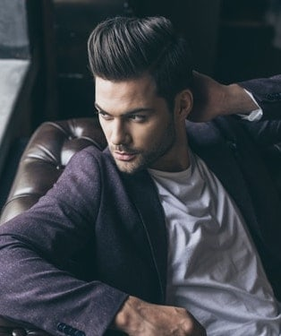 long modern day pompadour style