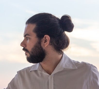 A regular man bun