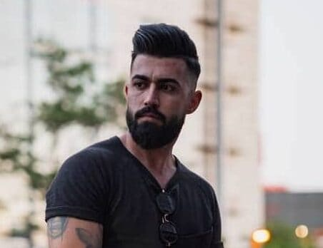 classic pompadour with an undercut