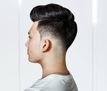 pompadour with a low fade
