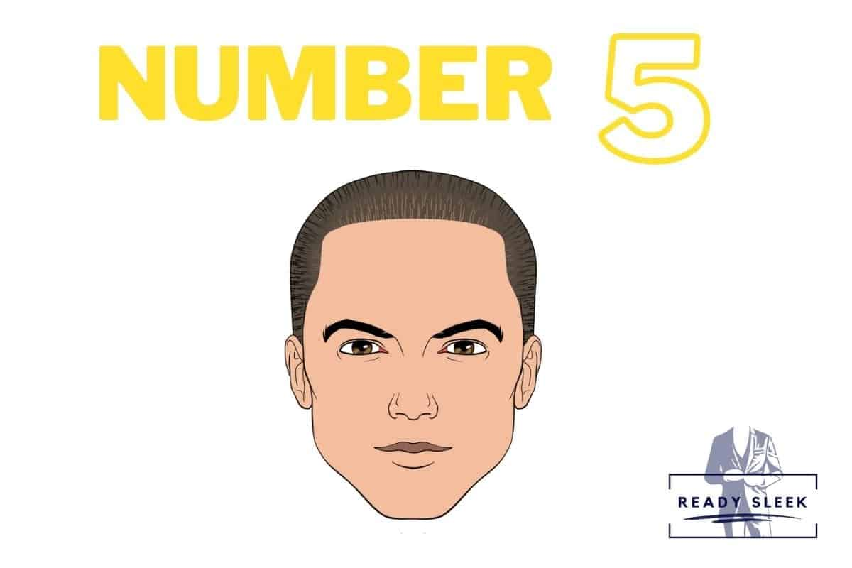 illustration of a #5 buzz cut