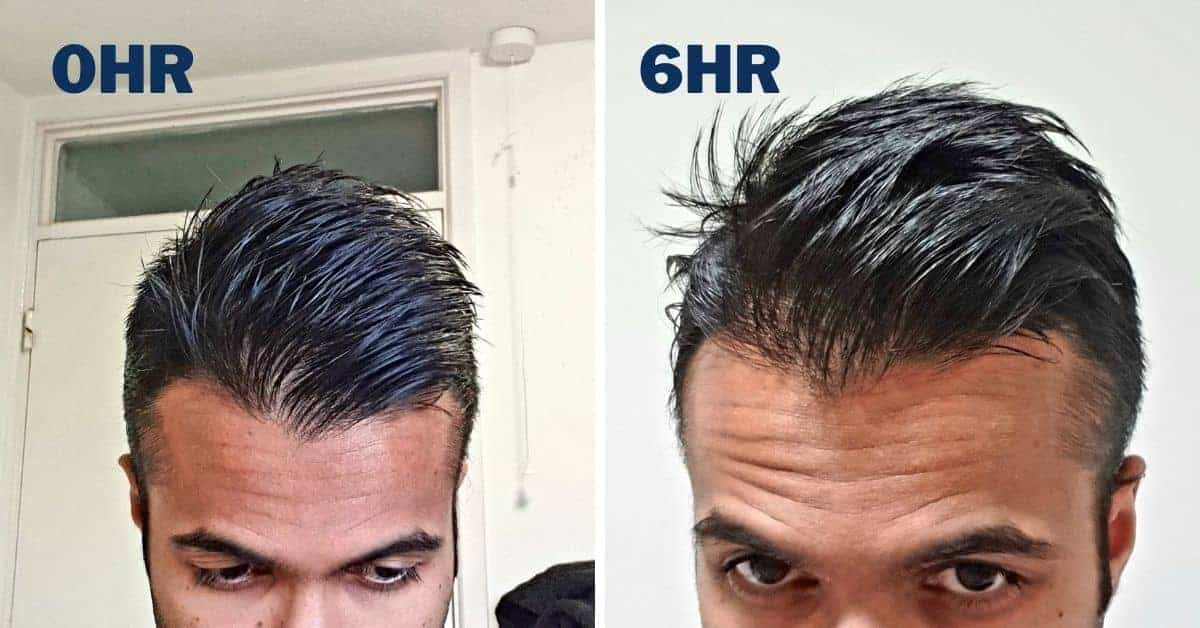 comparison of murrays pomade for 0hr and 6hr
